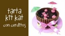 Teachlr.com - Cómo preparar una tarta Kit Kat con cerditos