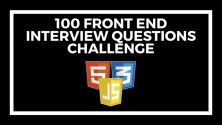 Teachlr.com - 100 Front End Interview Questions Challenge